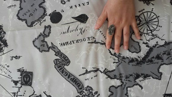 Wholesale map fabric maps print fabric map of the world like this item gumiabroncs Gallery