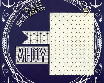 Set Sail - Premade Scrapbook Page
