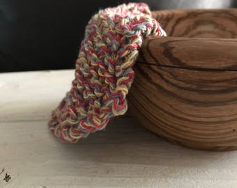 Small knit washcloth