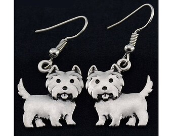 Carin Terrier Charm Earrings
