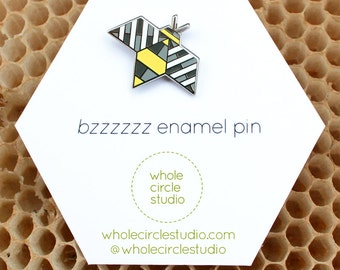 Bee Pin - Hard Enamel Pins - Bee Jewelry - Bees - Bee Gift - Bzzzzzz - Bzzzzzz enamel pin