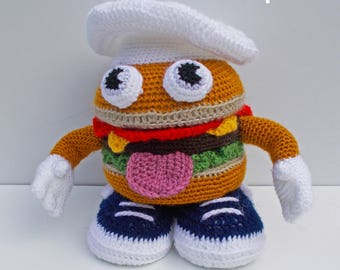 CROCHET tutorial/pattern: Mr Hamburger