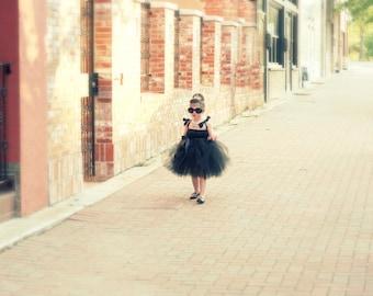 Breakfast at Tiffany's Tutu Dress | Audrey Hepburn Dress | Mini Audrey Hepburn | Tiffany's Wedding | Holly Goligtly | Flowergirl Dress