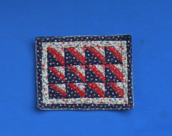 "Doll house miniature hand made quilt 4.5"" x 5.75"""