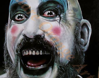 Captain Spaulding Sid Haig Limited Edition A4 Horror Print from Original Oil Painting