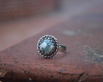 Ocean Jasper, Ocean Jasper Ring, Size 8, Jasper Ring, Jasper, Sterling Jasper Ring, Silver Jasper Ring, Green Gemstone Ring