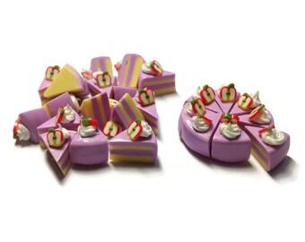 Miniature Food - Cake Slice Fake Sweet Dessert Supply Dollhouse Miniature -MFS293
