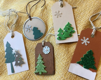 Holiday tree gift tags - Set of 5