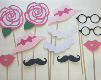 12-pack Kentucky Derby Classy Lady/Gentleman Party Photo Booth Props