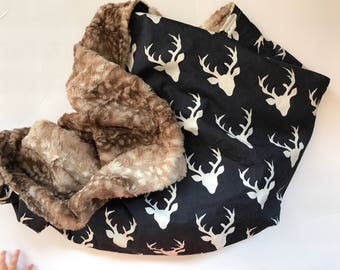 Deer Baby Blanket, Baby Boy Faux Fur Blanket, Stag Baby Blanket, Luxe Fur Blanket, Woodland Nursery, Hello Bear, Personalized Blanket