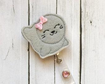 Cute Seal  Nurse Badge Holder - Badge Reel / Retractable ID - Teacher