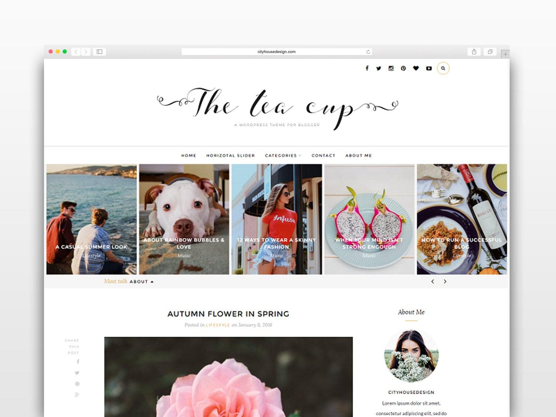 Tea Cup Wordpress Theme Wordpress Vorlage-Fotografie