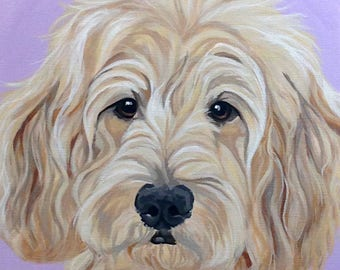 Pet Portrait, Custom Pet Portrait, Pet Painting, Dog Portrait, Pet Lover Gift, Dog Portrait Custom, From Photograph, Memorial Pet Portrait