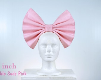 Oversized Hair Bow - Fairy Kei Clothing, Pastel Grunge, Pink Hair Bow, Pastel Goth Clothing, Cosplay Hairbow, Large Hairbow, Kawaii Hairbow,