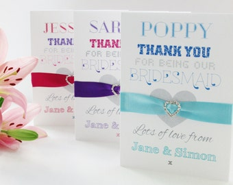 Personalised Bridesmaid 'Thank You' card