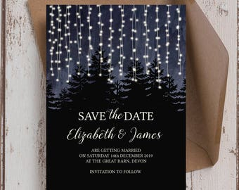 Personalised Enchanted Forest Wedding Save the Date cards