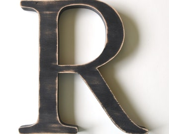 Wooden Letter R - 12 inch Nursery Letter - Wood Letters - Wall Letters