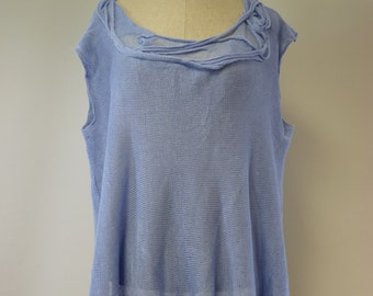 Delicate light blue linen bloiuse, XL size. Perfect for summer, hot price!