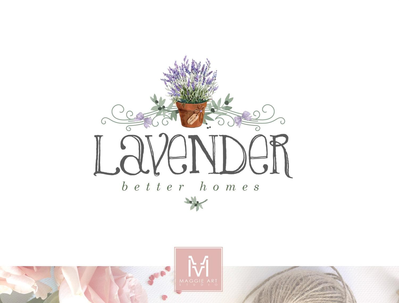 lavender logo lavender flower boutique logo rustic logo