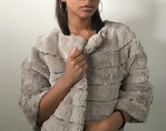 Bolero fur coat rabbit fur  REX