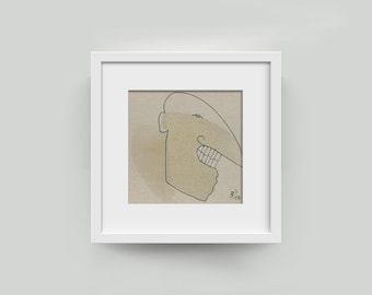Unique: 10/10 cm Funny Type-picture portrait, abstract drawing-painting-modern art plain