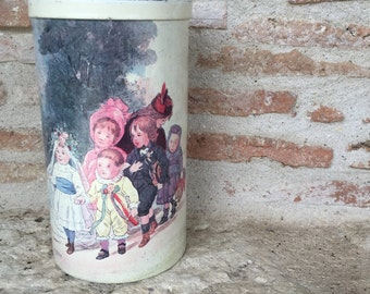 Vintage French Massilly Tin Cannister