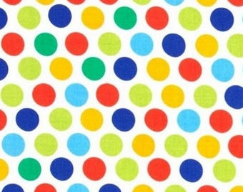 Patchwork miller primary color polka dot fabric