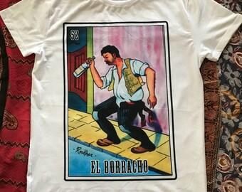 El borracho loteria man t-shirt
