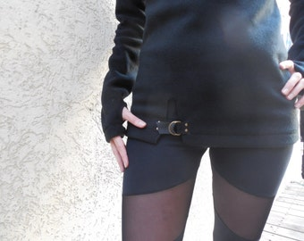 Turtleneck Sweater ,Cothic Ninja Style,Futuristic Clothes, Avant Garde Top,Footer  Winter Top, Winter Sweater, Black Sweater