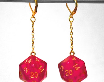 D&D D20 Earrings even more colors