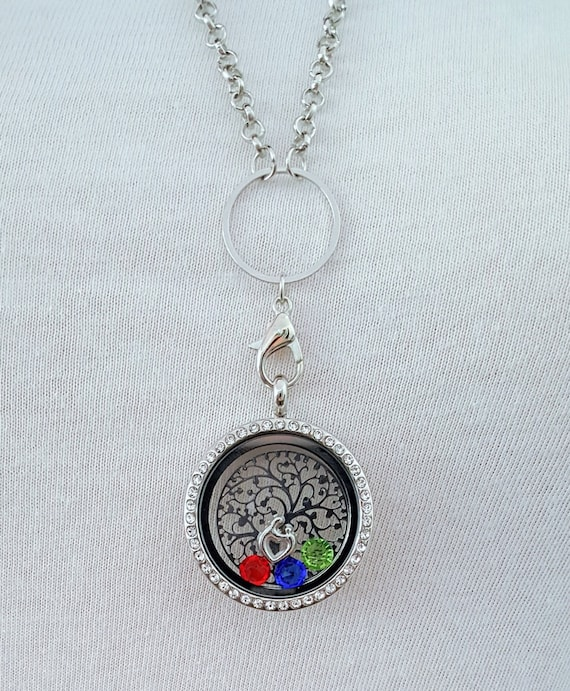 Mom Memory Locket / Gifts for Mom/ Gift for Mother / Living Locket / Mom Necklace / Mom Locket / Tree of Life / Floating Locket