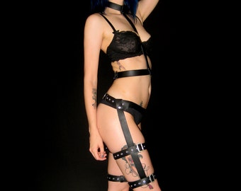 Leeloo Dallas Two-Piece Harness Faux Leather