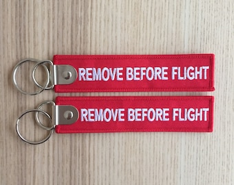 """Keychain Keyring """"Remove Before Flight"""" engraved numbered engraved numbered crew pilot airplane aviation airport airport aircraft spot"""