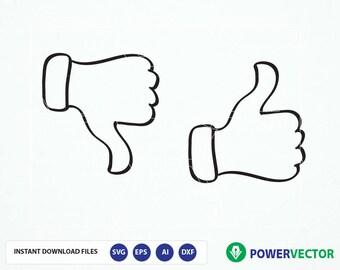 thumbs down etsy rh etsy com Thumbs Up Thumbs Down Design thumbs up thumbs down clipart