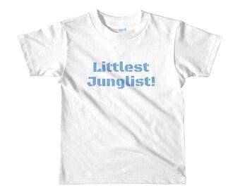 Littlest Junglist! (range of colours) Short sleeve kids t-shirt