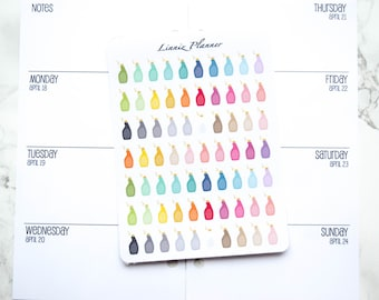 Mini Cleaning Bottle (matte planner stickers, perfect for planners)