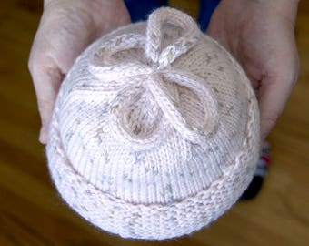 Soft Pink Knitted  Baby Hat
