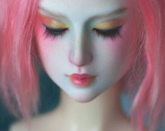 "OOAK Black Cherry Aishat ""Bird of Paradise"" BJD head"