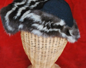 Women's 1930's Jacoll Fur and Black Crepe Hat