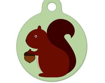 Pet ID Tag - Squirrel Pet Tag, Dog Tag, Cat Tag, Luggage Tag, Child ID Tag