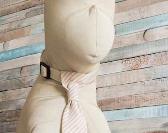Dog Tie Collar - Mr. & Mrs. PASSION - in a dapper stripes fabric, dog of honor, wedding dog collar
