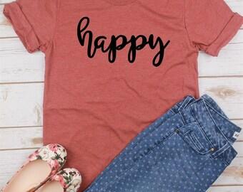 Happy T-shirt/Happy Shirt/Happiness T-shirt/Happy T-shirt/Happiness Shirt
