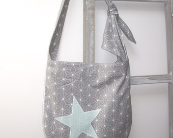 Rounded - grey Origami model bag-
