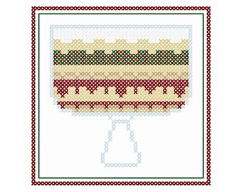 "Rachel's Trifle - Original Cross Stitch Chart | Inspired by ""FRIENDS"""