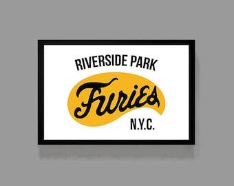 Movie Poster Print - Warriors / Furies - 70's, 80's, Baseball, Cult Classic American Film Riverside Park NYC Baseball Gang