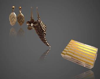Indie Flower and Wings Earrings Box Set