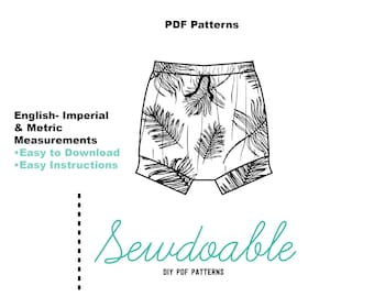 Shortie PDF Pattern 3/6M- 4Y