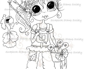 INSTANT DOWNLOAD Digital Digi Stamps Big Eye Big Head Dolls Digi  My Besties IMG709 By Sherri Baldy