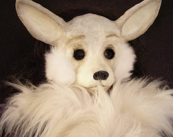 Masquerade mask Fox mask Fennec fox mask Animal mask Fox head Fox costume Carnival mask Fancy dress Face mask