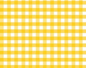 "ON SALE Riley Blake Designs 1/2"" Woven Gingham Yellow"